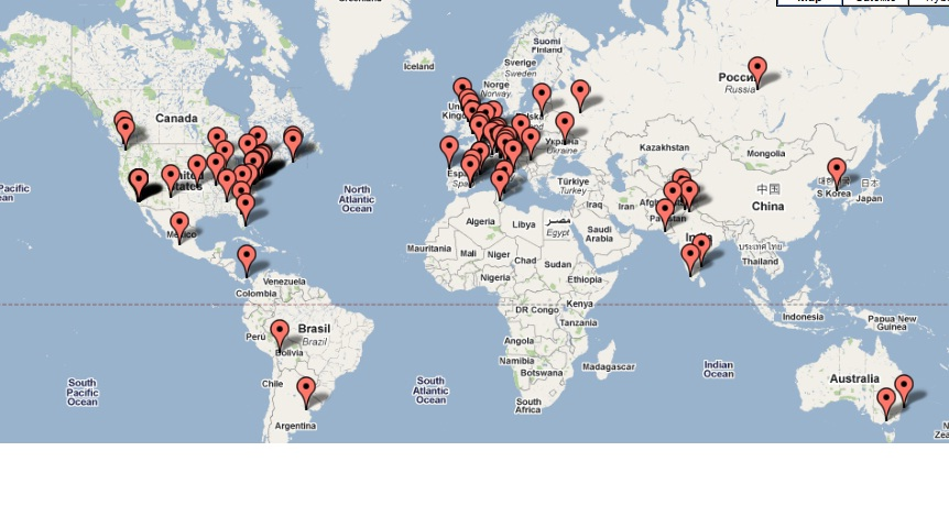 Website Statistics - Map of Recent Visitors
