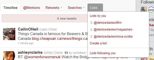 Twitter create a list