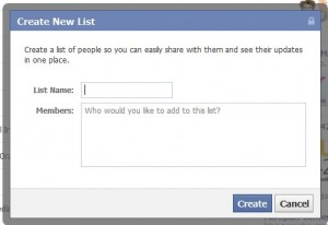 Create a Facebook List