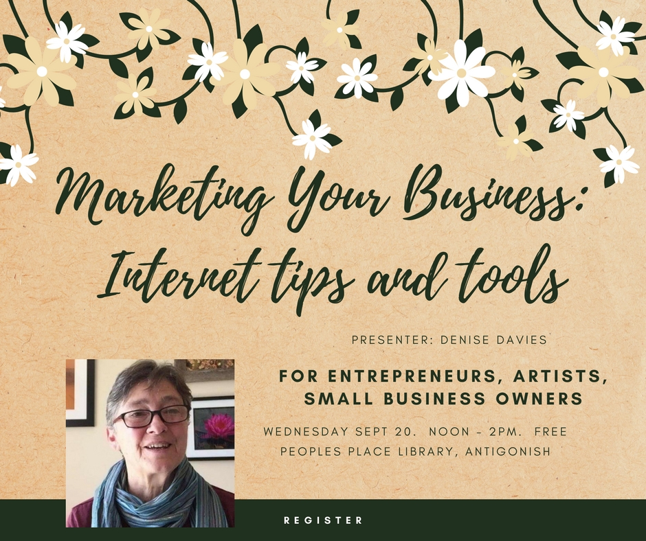 Workshop Marketing your business: Internet tips and tools